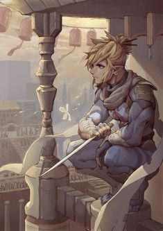 Link wearing the Stealth (Sheikah) Set standing on a balcony of Kakariko Village and admiring the view of the beautiful village. He is holding a sheikah dagger, the same one that Sheik uses in the Sheikah Dance in Super Smash Bros Ultimate. The Legend Of Zelda, Legend Of Zelda Memes, Legend Of Zelda Breath, Legend Of Zelda Characters, Breath Of The Wild, Film Manga, Film Anime, Link Zelda, Character Illustration