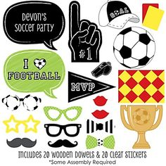 GOAAAL! - Soccer - Baby Shower Photo Booth Props Kits - BabyShowerStuff.com