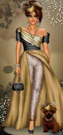 fashion illustration by Diva Chix member, griffysgirl