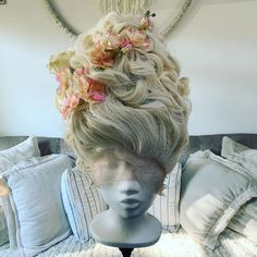 Marie Antoinette Wig Custom Made Century Wig 18th Century Wigs, 17th Century, Halloween Wigs, Hair Reference, Wig Styles, Versailles, Costume Design, Lace Front Wigs, Hair Makeup