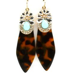Tortoise Shell Dagger Earrings I found this on www.rmcjewelry.com