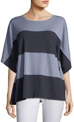 5c2b765226073 Lafayette 148 New York Sequin-Trim Dolman-Sleeve Sweater