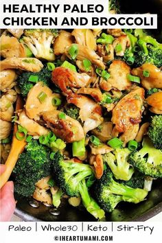 Paleo Chicken and Broccoli Stir Fry Keto). The BEST Paleo Chicken and Broccoli with Keto and chicken stir-fry sauce. Easy Healthy Chinese Chicken and Broccoli stir-fry for low carb meals ! via The BEST Paleo Chic Chicken Stir Fry Sauce, Chicken Broccoli Stir Fry, Healthy Stir Fry Sauce, Paleo Fried Chicken, Cauliflower Stir Fry, Keto Stir Fry, Broccoli Cauliflower, Steamed Broccoli, Low Carb Recipes