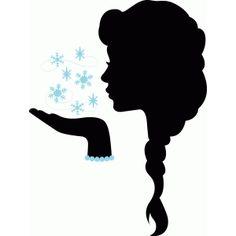 Silhouette Design Store - View Design #56883: snow princess silhouette