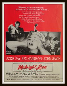 Midnight Lace Movie Poster Doris Day