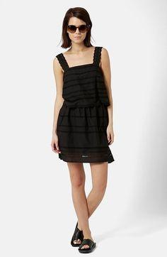 Topshop Lace Trim Overlay Sundress #black #sundress #fashion