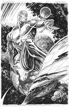 SILVER SURFER by TYLER KIRKHAM GET A COMMISSION TO BENEFIT:THE FAMILY TROLL KICK STARTER Comic Art