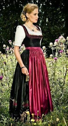 Get your own Authentic German Lederhosen and Trendy Bavarian Dirndl. German Costume, Dirndl Dress, Vintage Trends, Folk Fashion, Folk Costume, Costumes, Medieval Dress, Up Girl, Traditional Dresses