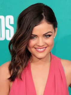 Lucy Hale ownes the side wept look!