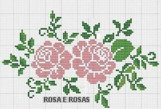 This Pin was discovered by ΕΛΕ Cross Stitch Rose, Cross Stitch Borders, Cross Stitch Flowers, Cross Stitch Charts, Cross Stitch Designs, Cross Stitching, Cross Stitch Embroidery, Embroidery Patterns, Cross Stitch Patterns