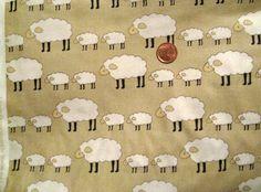 Locally Grown Sheep  Natural  FQ 18  x  20 by Sheepinspiration