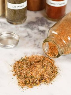 This all-purpose blend of salt, spices and herbs is versatile enough to use on a wide variety of foods including roasted vegetables, meats, potatoes and salads. All-Purpose Seasoning Blend Aimee Smith aimeemcsmith Yummy! Homemade Spice Blends, Homemade Spices, Homemade Seasonings, Spice Mixes, Roasted Vegetables Seasoning, Vegetable Seasoning, Veggie Seasoning Recipe, Hamburger Seasoning, Vegetable Salad