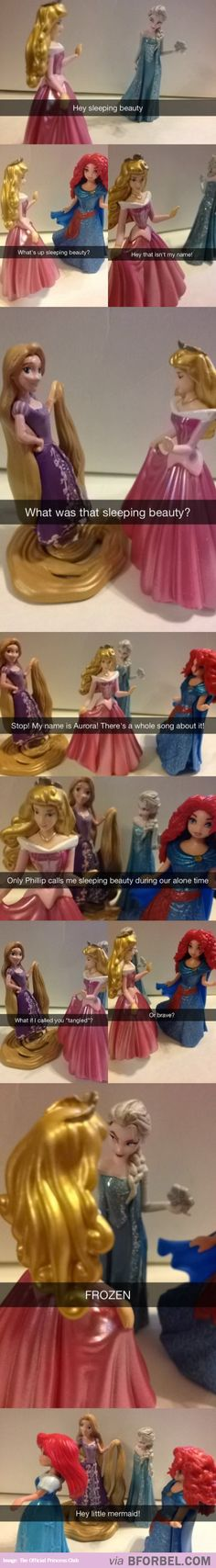 Disney Princesses Forgetting Each Other's Real Names… okay... this is a good one