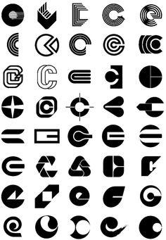 English alphabet deformation LOGO design reference for design flexibility . Graphic Design Branding, Logo Branding, Wordmark, Photoshop Logo, Circular Logo, Logo Shapes, Great Logos, Geometric Logo, Logo Concept