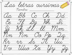 Letras Cursivas 3-5Gr