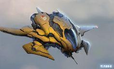 Share via artstation ios app, artstation © 2016 vehicle conc Spaceship Art, Spaceship Design, Concept Ships, Concept Cars, Killzone Shadow Fall, Aliens, Starship Concept, Sci Fi Spaceships, Future Weapons