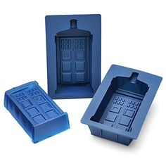 ThinkGeek :: Doctor Who TARDIS Gelatin Mold Set  (2-pc) $19.99  Individually sized - holds 1 cup