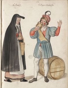 One of the black veil girls from Flanders (?) #Tudor (16thCent) - Working Class