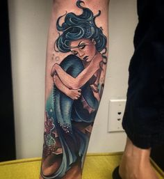 "mermaids-luv: "" Mermaids and tropical tattoos ""                                                                                                                                                                                 More"