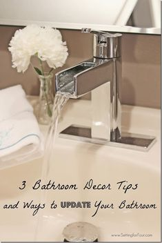 3 Bathroom Decor Tips and Ways to Update your Bathroom - turn your bathroom into a spa like sanctuary!
