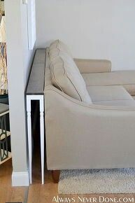 Are you looking for Sofa-table ideas you can build this weekend? Find daring and dramatic DIY Sofa Tables that are inexpensive and look great in any home. Diy Living Room Decor, Diy Home Decor, Living Rooms, Art Decor, Mesa Sofa, Behind Couch, Behind Sofa Table, Diy Sofa Table, Console Table