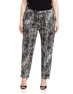 Calvin Klein Women`s Plus-Size Print Slim Pant $89.50