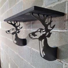 Shelf Brackets Design, Shelving Brackets, Shelves, Iron Eagle, Eagle Design, White Tail, Deer, Etsy Shop, Strong