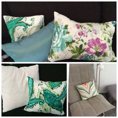 New cushions for our livingroom Fabrics from Eurokangas