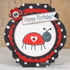How adorable is this card by Jeanne Streiff?  Find out how she created it with Framelits dies on our blog today: http://sizzixblog.blogspot.com/2013/04/jeanne-birthday-ladybug.html.