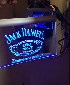 Jack Daniels Whiskey Bar Beer LED Neon Sign