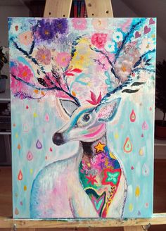 Moose Art, Animals, Painting, Animales, Animaux, Painting Art, Animal, Paintings, Animais