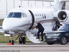 Prince Andrew boards a private jet with his dog in Aberdeen on Tuesday before meeting his ex-wife the Duchess of York at a private airport in Hampshire yesterday and flying together to Spain Duchess Of York, Duke Of York, Aberdeen Airport, Prinz Andrew, Queen Husband, Malaga Airport, Flying Together, Prince, Tony Blair