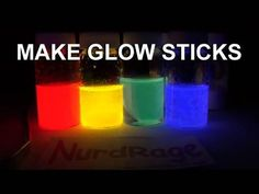 Homemade GLOWSTICKS!