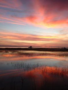 Charleston Harbor from Pitt Street Bridge, Mount Pleasant, SC.  photo credit:  my good friend Cheryl Crowder