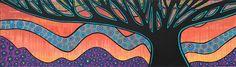 Tree of Life by Bronwyn Bancroft at Janet Clayton Gallery Danks Street Sydney Tree Of Life Painting, Dream Art, Arts Ed, Australian Art, Indigenous Art, Aboriginal Art, Art Classroom, Art Lessons, Winter Wonderland
