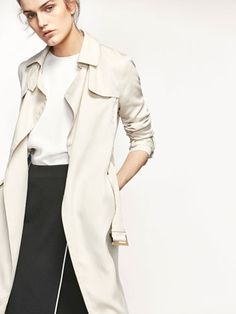 Spring summer 2017 Women´s FLOWING TRENCH COAT at Massimo Dutti for 459. Effortless elegance!
