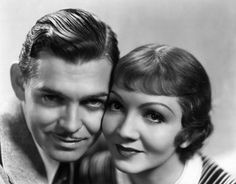 Clark Gable as 'Peter Warne' and Claudtte Colbert as Ellie Andrews in 'It Happened One Night' (1934) -- and how many times did you watch this one growing up? I might have quite possibly seen this more times than any other movie!