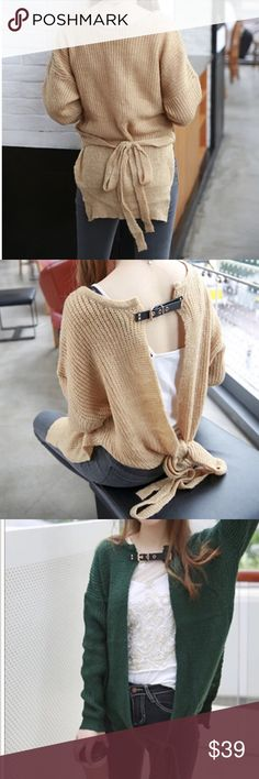 Multi-wear kit sweater cardigan Can be worn as different ways showed by pics . Material: acrylic. Length 25-26, bust is open, sleeve length 18. NWOT Sweaters Cardigans