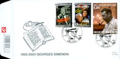 Detective Fiction on Stamps: Simenon / Maigret - Belgium