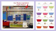 Cupcake Birthday Display ..... Supplies for this bulletin board…      Cupcake printables {download from Kindergarten…Kindergarten}     Card stock     Laminator     Laminator pouches     Dry erase marker
