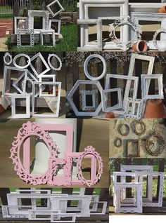 Set Of 5 Made To Order Picture Frames - Custom Picture Frames - Frame Collage