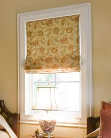 Learn how to make a flat roman shade with detailed step by step videos and illustrated instructions at SimpleSewingProjects.com