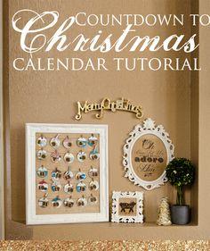 Countdown to Christmas Calendar Tutorial
