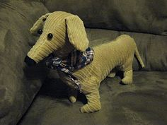 The Humdrum Hero: Free Stuffed Dachshund Sewing Pattern and Instructions