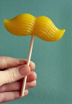 Mustache lolly pop