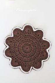 Prinsessajuttu: Virkattu piparkakku lasinalunen (ohje) Hobbies And Crafts, Diy And Crafts, Paper Crafts, Crochet Potholders, Fabric Rug, Diy Crochet, Xmas Decorations, Diy Projects To Try, Handicraft