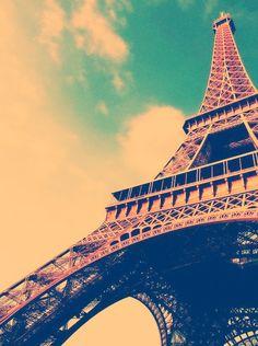 Eiffel Tower in Paris France.