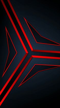 Blue with Red Abstract Wallpaper