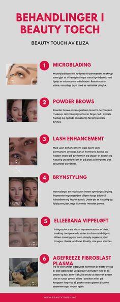 Teknikken består i å påføre pigment ved bruk av et tynt blad bestående av mikro-små nåler. Øyenbrynene våre er med på å definere ansiktet og gi det karakter - ikke rart det er viktig med flotte øyenbryn! Jeg har en lang liste over fornøyde kunder, og du blir ikke skuffet. beauty touch tilbyr også service  tilbyr også service av Brynstyling, Elleebana vippeløft, Lash Enhancement, Microblading, Powder brows. Permanent Makeup, Oslo, My Beauty, Lashes, Eyelashes, Eyebrow