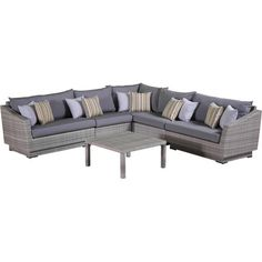6-Piece Cannes Patio Seating Group in Charcoal Grey  at Joss and Main